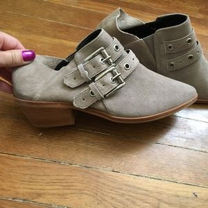 6.5 Rebecca Minkoff Austen sand colored booties